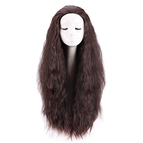 Women's Long Dark Brown Curly Cosplay Wig for - Adult Wig Brown Long