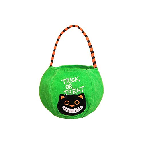 Xeminor Premium Quality 1 x Halloween Decoration Props Toys Dress Up Accessories Children's Portable Pumpkin Bag Gift Bag Candy Bag Green Style -