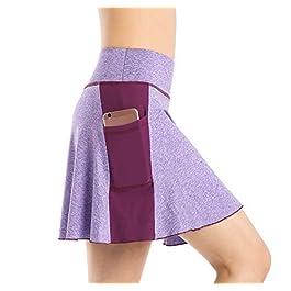 EAST HONG Women's Active Athletic Skort Lightweight Skirt with Pockets
