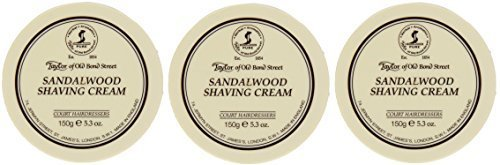 Taylor of Old Bond Street Sandalwood Shaving Bowl, 5.3-Ounce Pack of 3 (3)