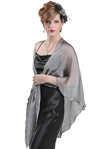 grey silk dress and jacket - 7