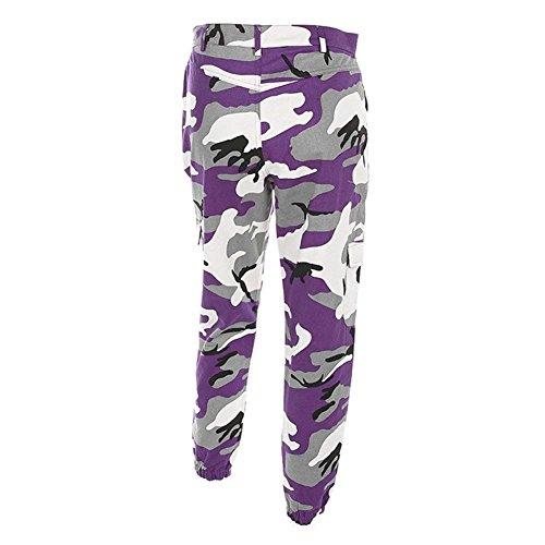 Laisla Tempo Lunghe Tuta Autunno Donna Fashion Libero Pantaloni Donne Militari Classiche Lila Cargo Outdoor Unique Eleganti qxrfq1w