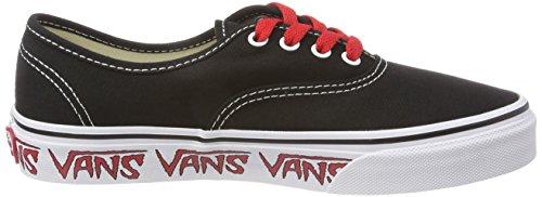 Vans Authentic, Zapatillas Unisex Niños Negro (Sketch Sidewall)