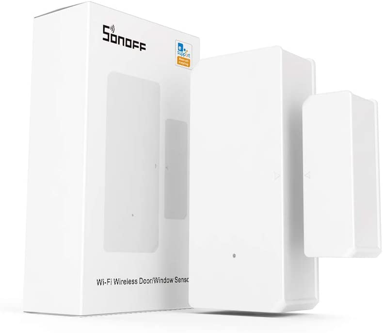 SONOFF DW2 Wi-Fi Wireless Door Window Sensor,APP Alert for Home Automation Wireless Alarm Security System, Compatible with IFTTT, No Gateway Required.