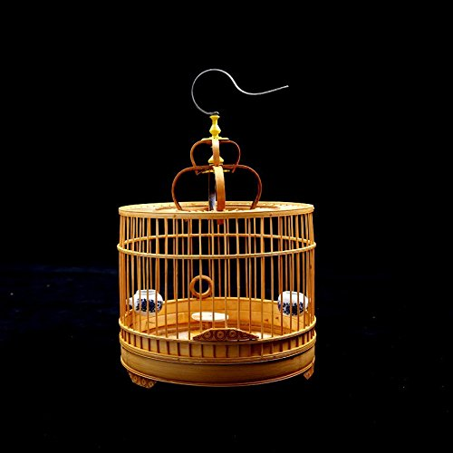 Pet Online The topping-out of bamboo birdcage round bamboo 8 respectively and Bosnia and small cage ,2732cm Thrush
