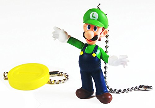 Ebay Girl Hit Costume (Mario Bros Ceiling Fan Pull Set (Luigi & Gold)