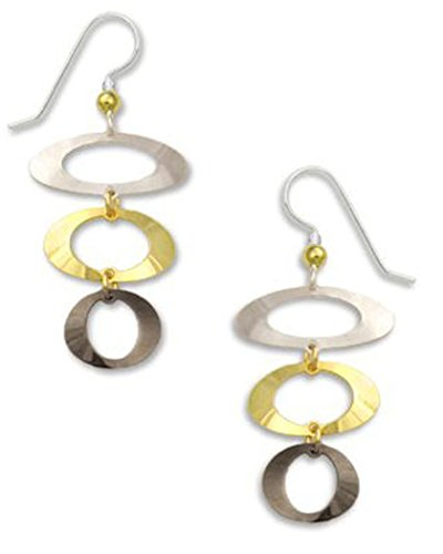 Gold-tone Silver-tone Hematite Open Oval Dangle Drop Earrings Made In USA by Adajio Sienna Sky - Oval Hematite Ring