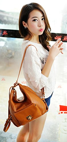 Casual New for Shoulder Backpack Black Leather Daypack Bags Fashion Heshe Women Lady Handbags SXwOI8xnvq