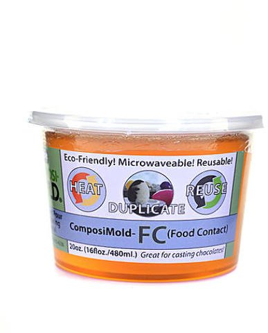 ComposiMold RE-MELT to RE-USE Mold Making Material - Food Contact 1 pcs sku# 1874622MA