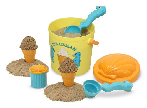 Beach Toys Plastic (Melissa & Doug Sunny Patch Speck Seahorse Sand Ice Cream Play Set)