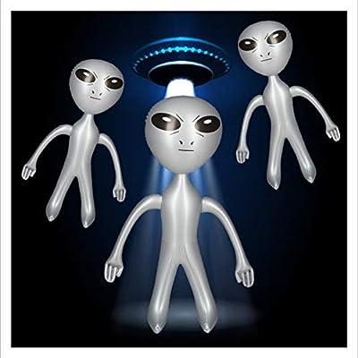 Relaxdays - 3 Figuras hinchables de Alien, Marsmännchen, Sci-Fi ...
