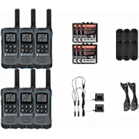 Motorola Talkabout T200TP Walkie Talkie 6 Pack Set Two Way Radio Package