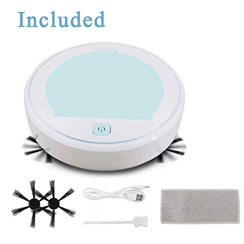 Automatic Obstacle Avoidance Hard Floor one-Button Startup Low Noise MQZF F902 Robot Vacuum Cleaner-Suitable for pet Hair Carpet high Coverage. Low repeatability