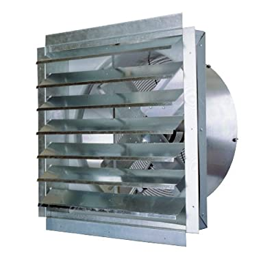 MaxxAir 1400-CFM 14-Inch Blade Heavy-Duty Exhaust Fan with Integrated Shutter