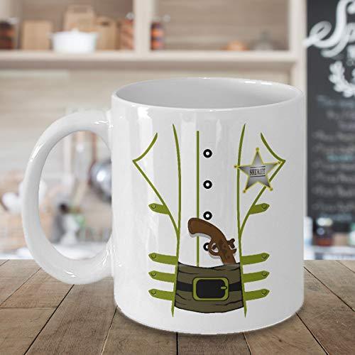 Western Sheriff Coffee Mug 11oz White, Sheriff Cup, Sheriff Badge, Old West, Halloween Costume, Costume Mug, Cup