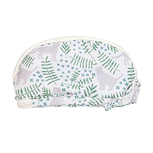 OUFENLI Printed Travel Cosmetic Bag Pencil Case Women Girls Purse Wallet Pouch Portable Large Capacity Double Deck Cosmetic Bag (C)