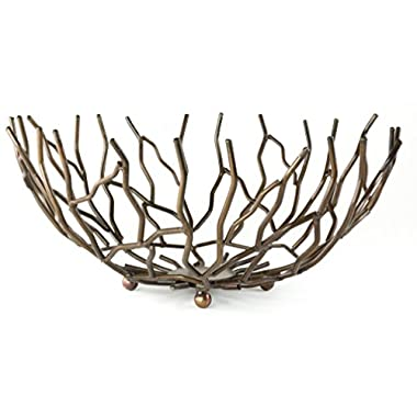 Copper Branch Reef Decorative Centerpiece Bowl, 13 Inches
