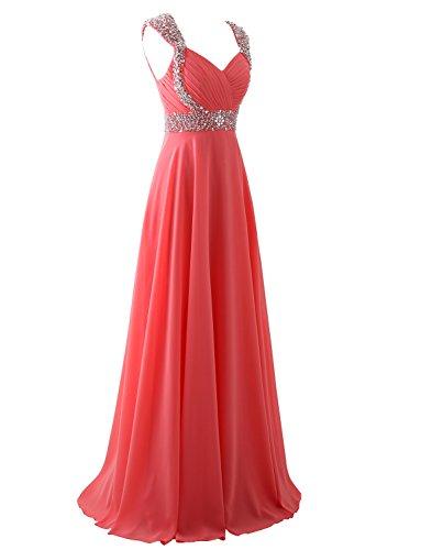 Erosebridal Chiffon Brautjungfernkleider Abendkleid Formal Gelb Lange arH5axPTwq