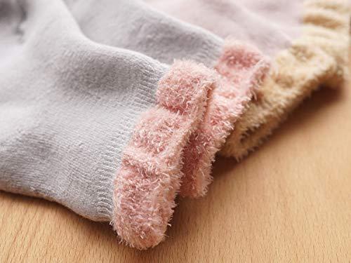 0-12M dkDaKanl Baby Girls Socks Ruffle Style Newborn Toddler Cotton Ankle Socks,5 pack,