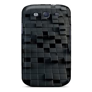Durable Cubes 3d Back Cases/covers For Galaxy S3