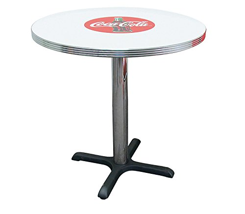 Vitro Seating Products BGA-125CBB-DT Coca-Cola 30'' Round Dining Table, Red and White by Vitro Seating Products