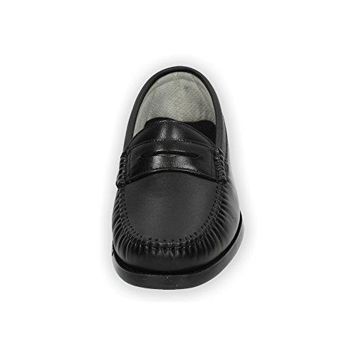MOCASÍN Zapatos Mocasines Negro CALZALINE Hombre DE 118 Piel N v0x6wH