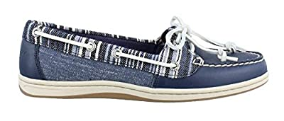 Sperry Firefish Denim Stripe Navy Womens Boat Shoes Size 8M