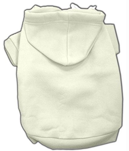 Mirage Pet Products 14-Inch Blank Hoodies, Large, Cream