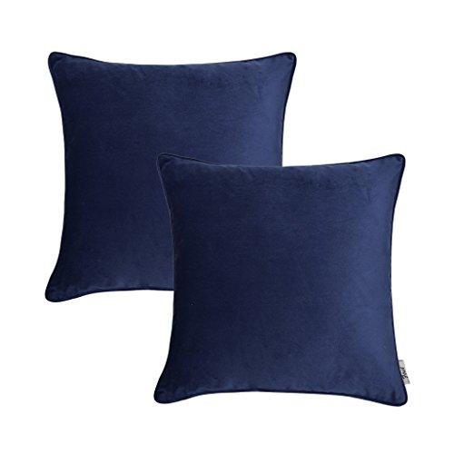 "Firet Velvet Throw Pillow Cover, 20"" x 20"" Ultra Soft Solid"