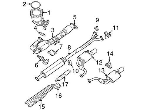 Nissan 20100-ZX70A Muffler Assembly-Exhaust Main