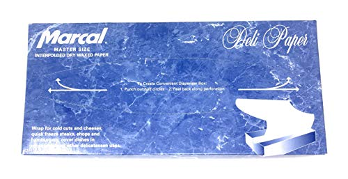 Deli Wrap Interfolded Wax Paper/Dry Waxed Food Liner Master Size 12 x 10¾, 500 Sheets