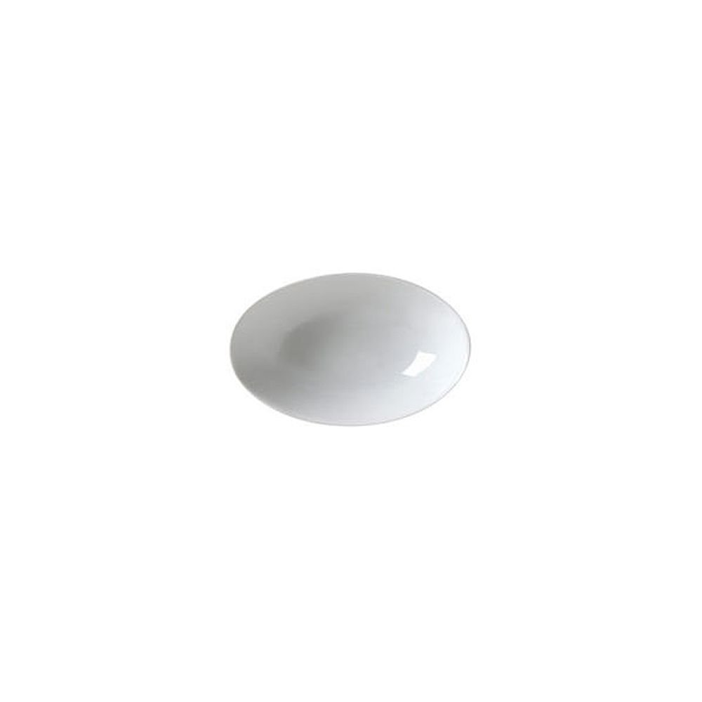 Vertex China AV-B16 Ventana Oval Bowl, 10'', 32 oz., Porcelain White (Pack of 12)