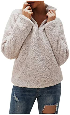 BOMOZQ 2019 New Womens Winter Fleece Jacket Pocket Fluffy Coat Outerwear / BOMOZQ 2019 New Womens Winter Fleece Jacket Pocket Fluffy Coat Outerwear