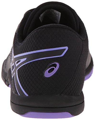 Asics mujer met-conviction cross-trainer Shoe Black-Black-Iris