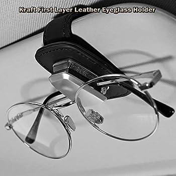 White FineFun Glasses Holders Light /& Compact for Car Sun Visor Bling Bling Diamond Sunglasses Mount with Double-Ended Ticket Card Clip