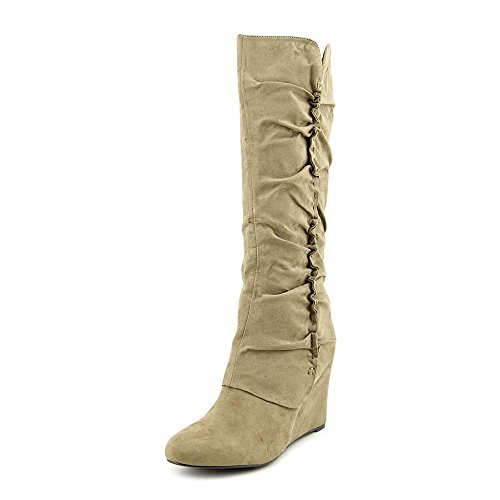 MIA Womens Renee Round Toe Synthetic Knee High Boot Taupe (8.5 M US)