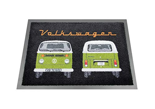 T2 Bus - BRISA VW Collection VW T2 Bus Doormat, 70x50cm - Front & Back/Green