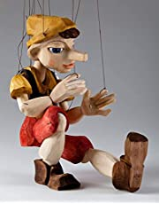 Awesome Hand Carved Pinocchio! Precisely Hand Made Marionette from Real Carver in Czech Republic, Size M