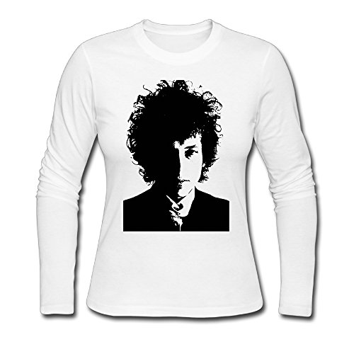 Crazy Shirts Bob Dylan Nobel Prize Female Crew Neck Teeshirt