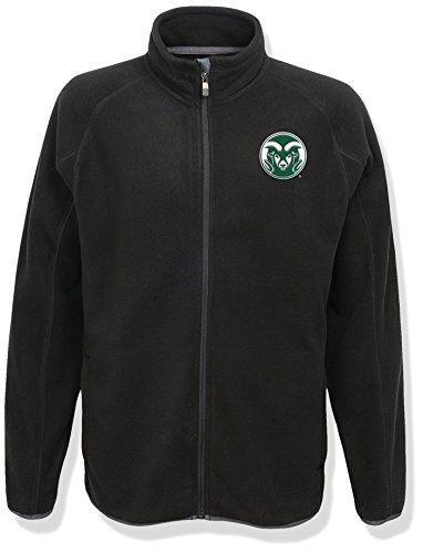 NCAA Colorado State Rams Men's Scrimmage Polar Fleece Full Zip Jacket, Black, Men's XX-Large by NCAA by Outerstuff