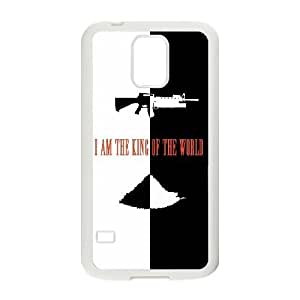 Scarface Im The King Of The World Samsung Galaxy S5 Cell Phone Case White Exquisite gift (SA_628849)