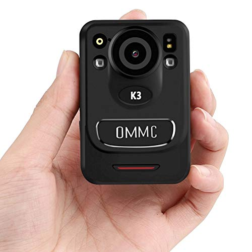 OMMC K3 1440P HD Police Body Camera,Portable Body Camera with with Audio Recording Wearable,Night Vision, 128G Memory Body Worn Camera for Law Enforcement