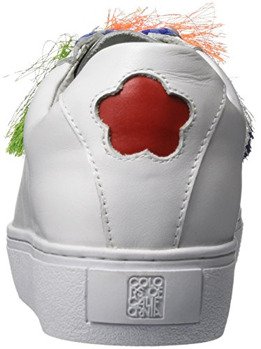 Colors of California Damen New Sole Sneaker in Nappa Tassels Weiß (White)
