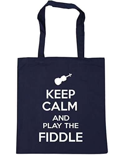Fiddle x38cm French Gym Tote litres Navy 42cm 10 the Shopping Beach and Bag Keep Calm HippoWarehouse Play 4xq7XXp