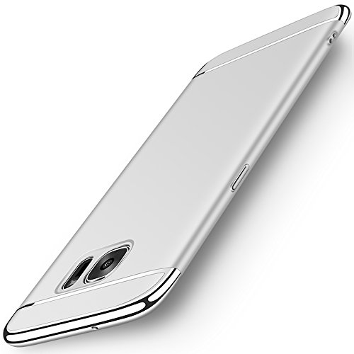 (Galaxy S7 Case, NAISU Samsung S7 Back Cover, Ultra Slim & Rugged Fit Shock Drop Proof Impact Resist Protective Case, 3 in 1 Hard Case for Samsung Galaxy S7 - Silver)