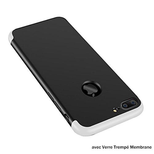 Plus Apple Plus Protection Mince Anti Tremp Noir Choc 1 Anti Verre Etui 360 Case Membrane avec Intgrale en iPhone Scratch 7 7 pour JEPER Coque PC iPhone 3 Argent Housse Ultra tzOqpwS
