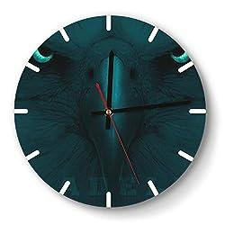 MIWQU Personality Philadelphia-Eagles-Fans-Poster-Football-Team- Style Wall Clock Decorative Home Quiet Clock