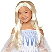 Disney Frozen 2 Elsa Wig, The Snow Queen Elsa Flowing Blonde Wig for Costume or Pretend Play Dress-Up