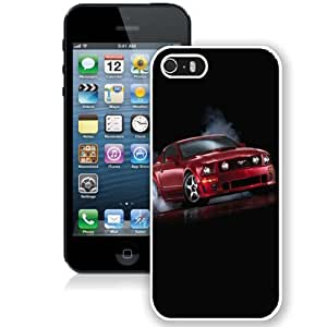 Personalized Phone Case Design with Ford Mustang GT iPhone 5s Wallpaper in White