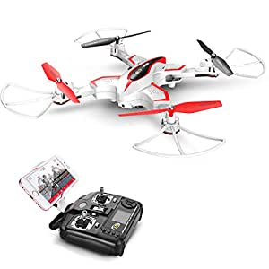 Syma X56W Drone with Camera Live Video WiFi FPV Foldable RC Drone with 2.4GHz 6-Axis Gyro Altitude Hold One Key Start Headless Mode Easy to Fly for Kids & Beginners, White